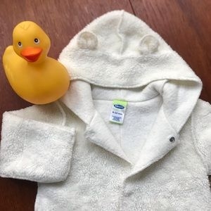 Old Navy Sherpa bunting 6 - 12 mo fleece one piece